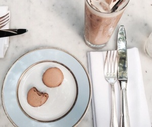 brunch, macaroons, and chocolate image