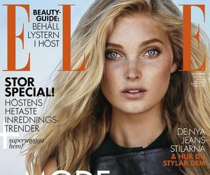 elsa hosk, victoria secrets angel, and elle magazine sweden image