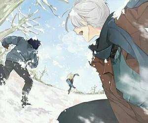 yuri on ice, yuri plisetsky, and victor nikiforov image