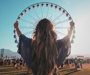 girl, coachella, and festival image