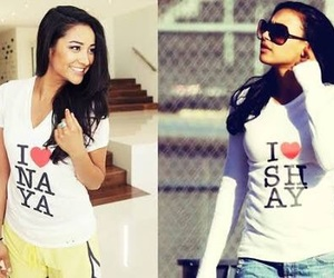 naya rivera, shay mitchell, and glee image