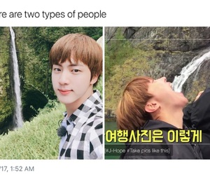 jin, bts, and hobi image