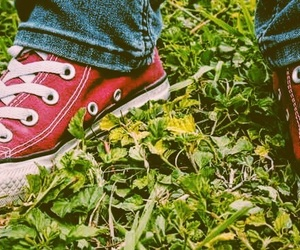 bff, green, and red converse image