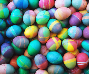 easter, eggs, and colorful image