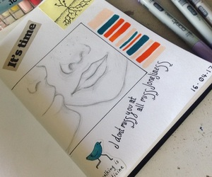art, journal, and mine image