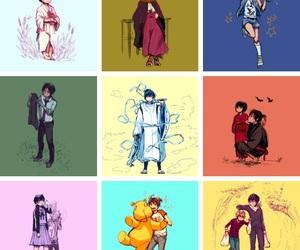 anime, noragami aragoto, and Collage image