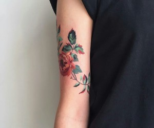 art, flower, and rose image