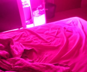 luzes, motel, and pink image