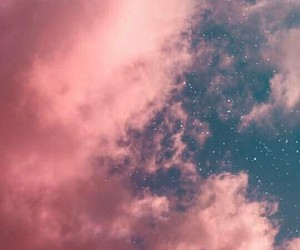 clouds, pink, and space image