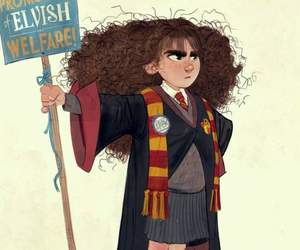 harry potter, hermione, and spew image