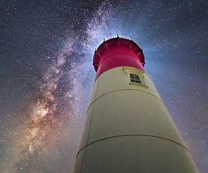 light, milky way, and sky image