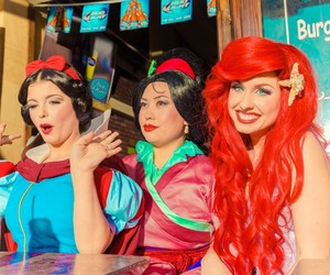ariel, disney, and hollywood image