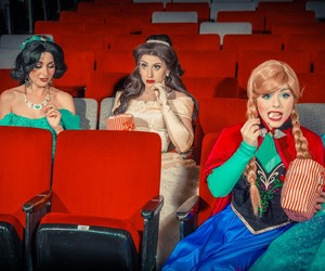 anna, belle, and cinderella image