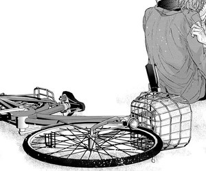 bicicleta, lovers, and manga image