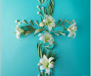cross, easter, and flowers image