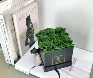 books, delivery, and roses image