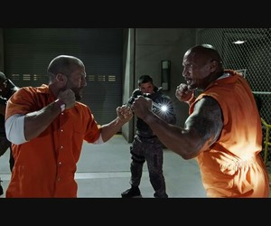 Dwayne Johnson, Jason Statham, and luke hobbs image