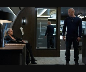 Charlize Theron, Vin Diesel, and dominic toretto image