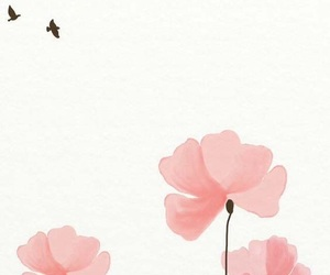 flowers, wallpaper, and bird image