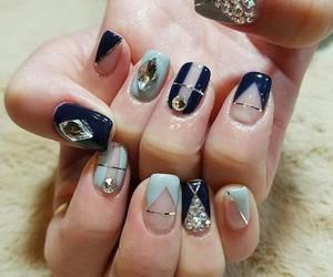 blue, korean, and nails image