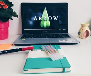 aesthetic, arrow, and flowers image