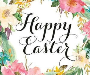 easter, flowers, and happy easter image