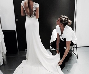 couple, dress, and wedding image