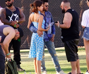 coachella, selena gomez, and the weeknd image