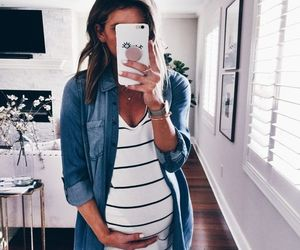 clothes, fashion, and pregnant image