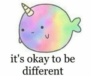 different, unicorn, and okay image