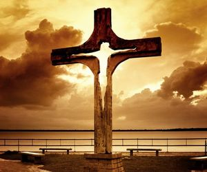 cross, jesus, and beautiful image
