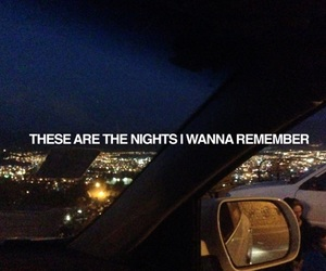 night, quotes, and car image
