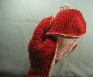 mittens, tunisian crochet, and learn it image