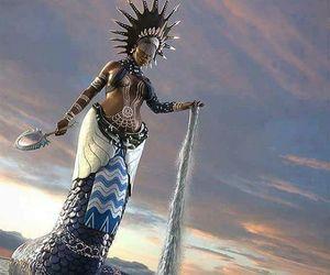 mermaid, sereia, and iemanjá image