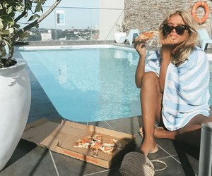 girl, summer, and pizza image