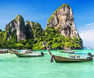 boat, thailand, and travel image
