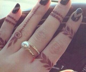 nails, henna, and nail art image