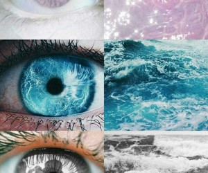 blue, eyes, and pink image