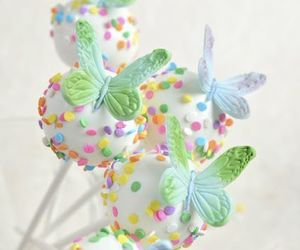 butterfly, cake pops, and candy image