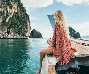 amazing, blonde, and boat image