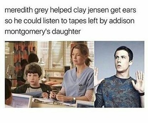 grey's anatomy and 13 reasons why image