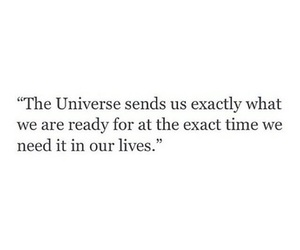 quote, universe, and life image