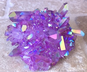 aesthetics, crystals, and purple image