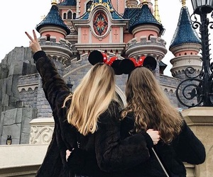 disneyland, girl, and friends image