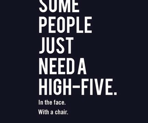 highfive, quotes, and people image