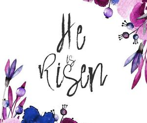 Christ, easter, and he is risen image