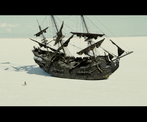 boat, pirates of the caribbean, and sand image