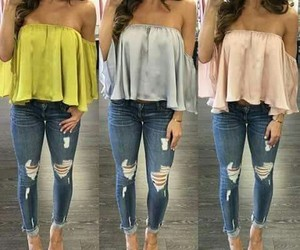 jeans, outffits, and 3 looks image