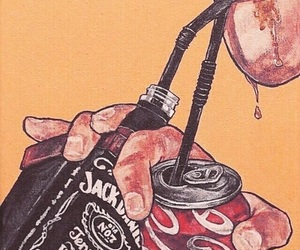 jack daniels, coca cola, and art image