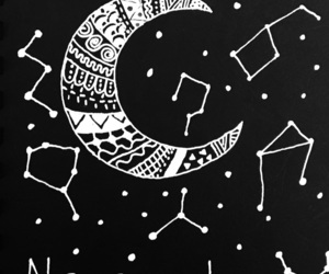 black, quotes, and moon image